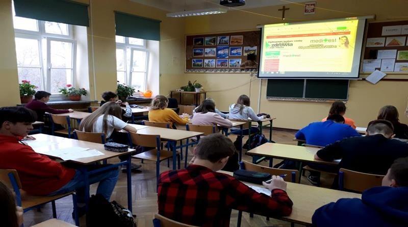 """Ogólnopolski konkurs wiedzy na temat zdrowia i jego ochrony """" MEDITEST"""""""