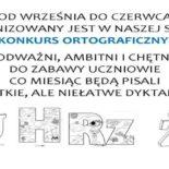 Całoroczny szkolny konkurs ortograficzny