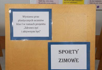 """Wystawa prac plastycznych.: """"Sporty zimowe"""""""